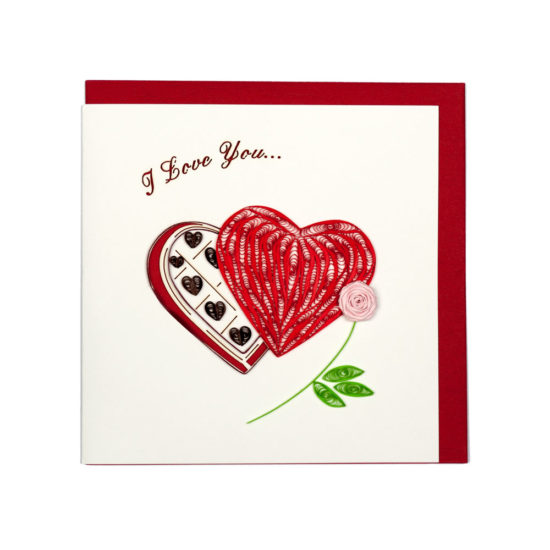 Quilling Card - Heart - Valentine's Day Card